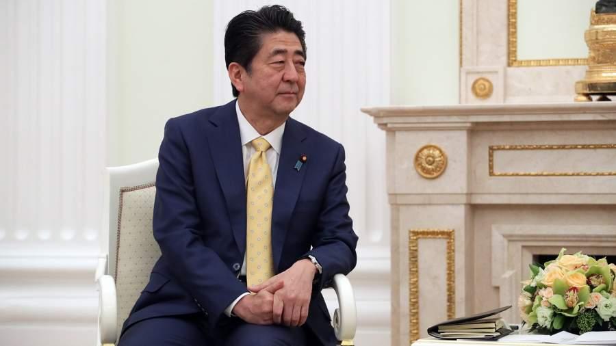 Премьер-министр Японии Синдзо Абэ во время встречи с президентом РФ Владимиром Путиным.22 января 2019 года