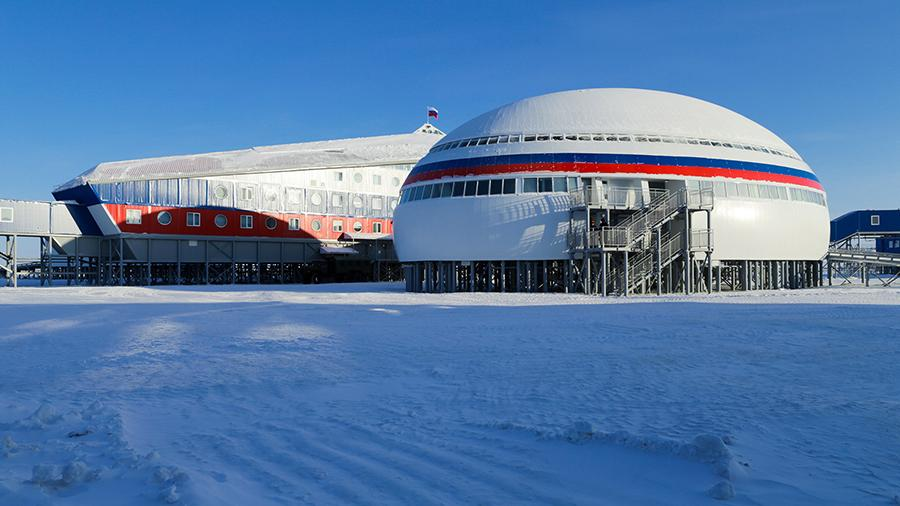 Shamrock arctique de la base militaire russe