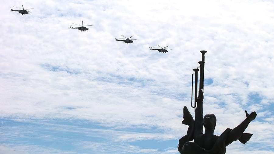 Репетиция воздушной части парада к 75-летию Победы в Минске