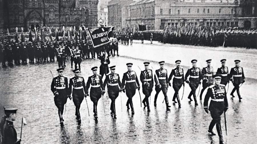1-ый Белорусский фронт на Параде Победы