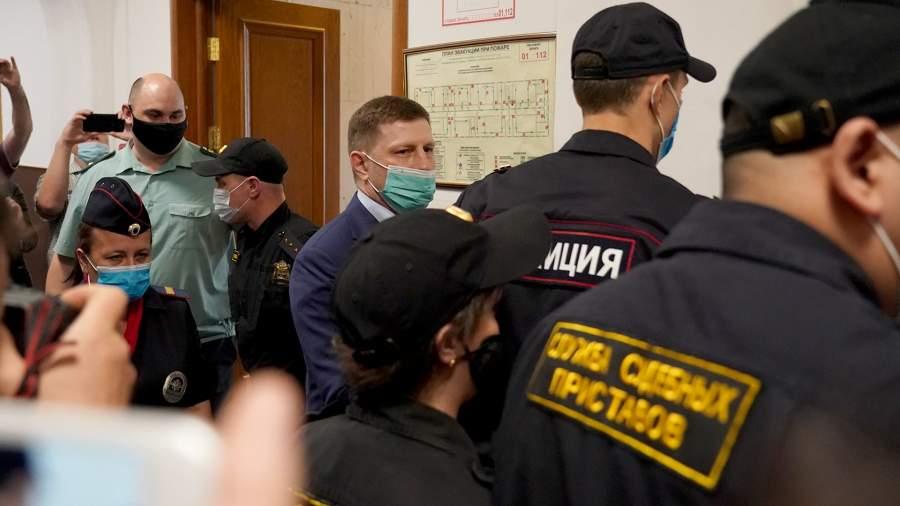 Губернатор Хабаровского края Сергей Фургал в Басманном суде, Москва