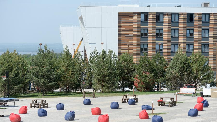 Жилые корпуса университета в Иннополисе - городе, который объединит молодых высококвалифицированных специалистов со всей территории России