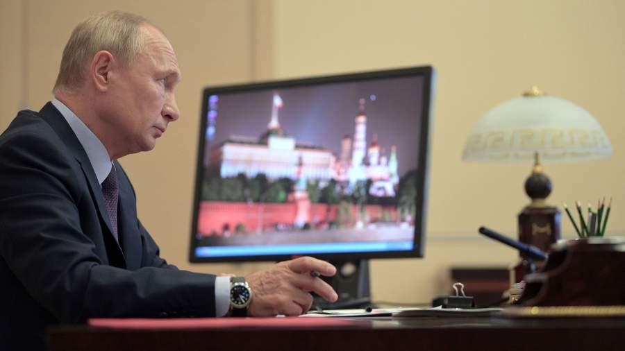 Президент РФ Владимир Путин проводит в режиме видеоконференции заседание Совета по стратегическому развитию и национальным проектам