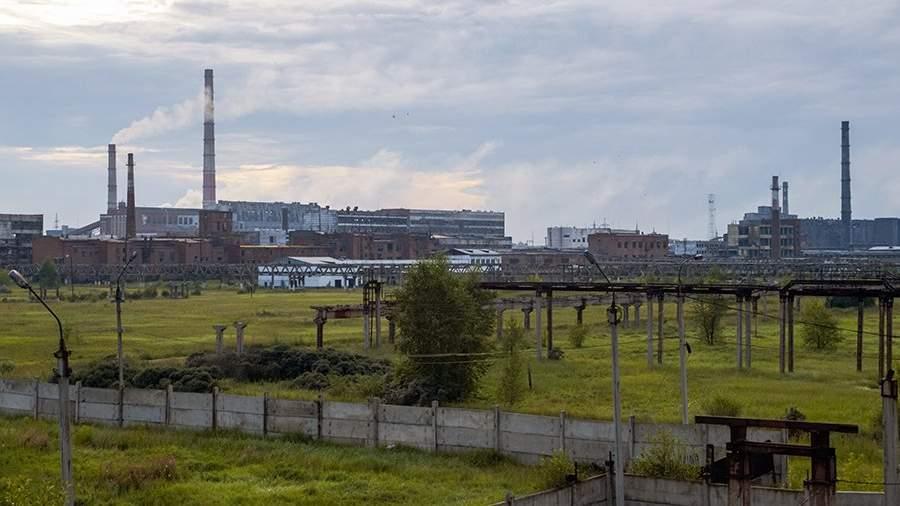 На территории предприятия химической промышленности «Усольехимпром» в городе Усолье-Сибирское