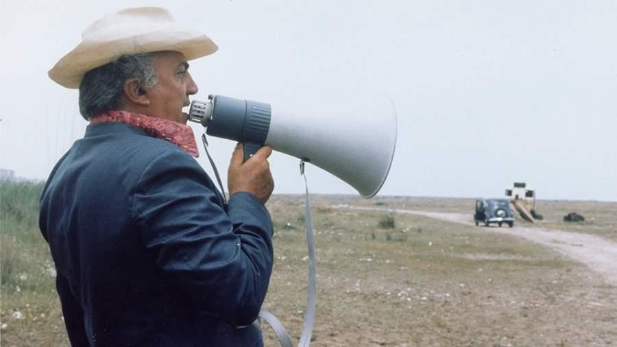 Федерико Феллини во время съемок фильма «Амаркорд»