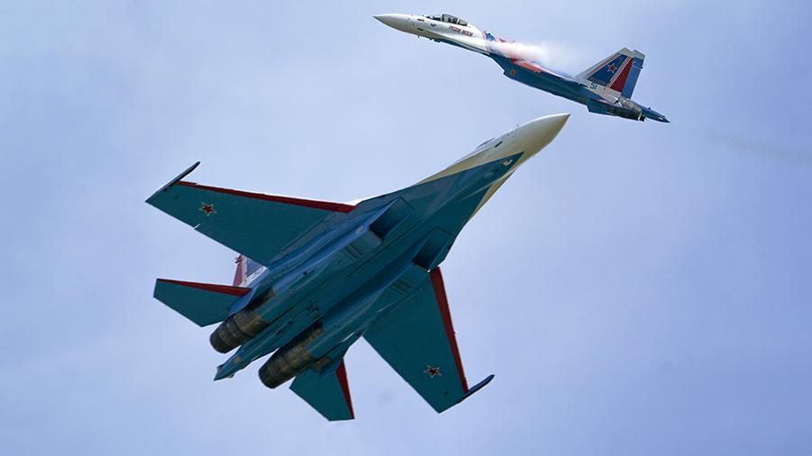 Su-35S fighters of the
