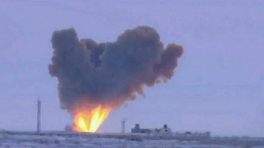 Запуск ракеты комплекса«Авангард»