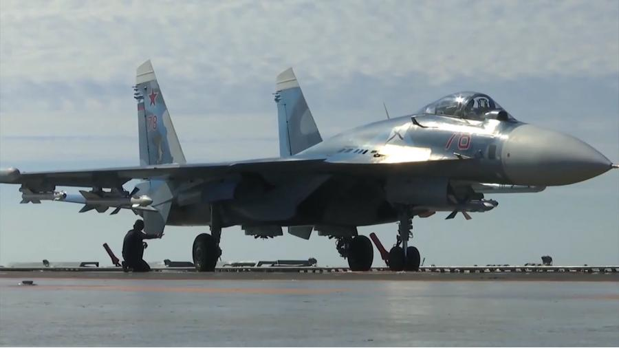 Su-33 shipborne fighter of the Russian Aerospace Forces