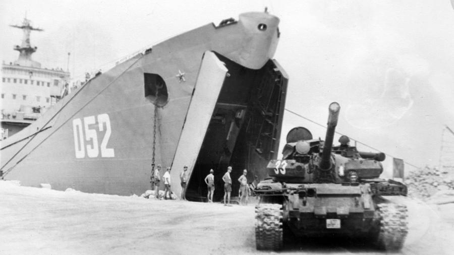 Landing of the Marine Corps on the island of Nokra