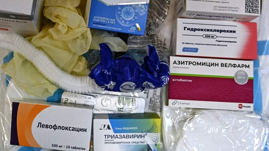Набор для лечения больных COVID-19 на дому в который входитгидроксихлорохин,азитромицин илевофлоксацин 
