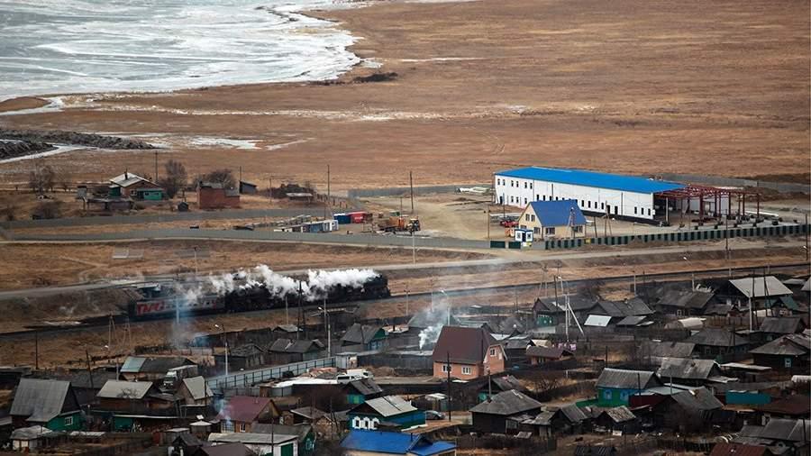Вид на место строительства завода, Иркутская область