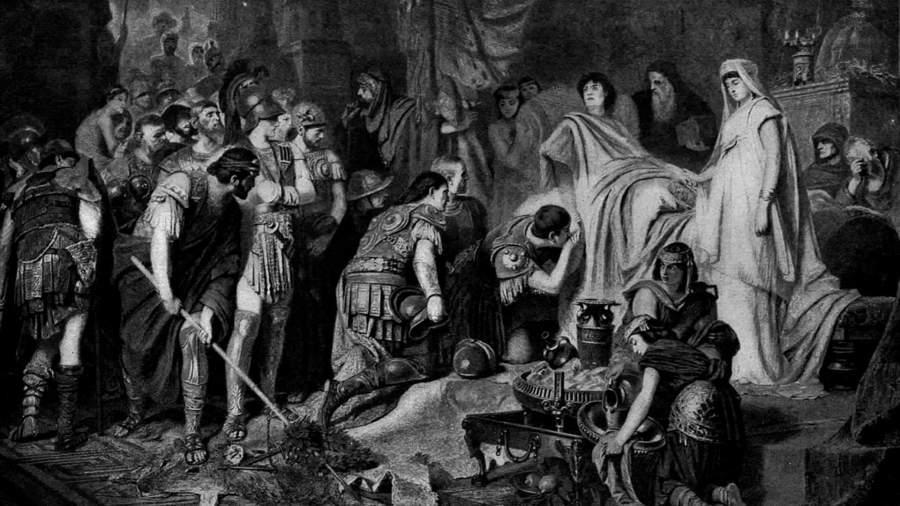 Картина немецкого художникаКарла Теодора фон Пилоти «Прощание с Александром Македонским»