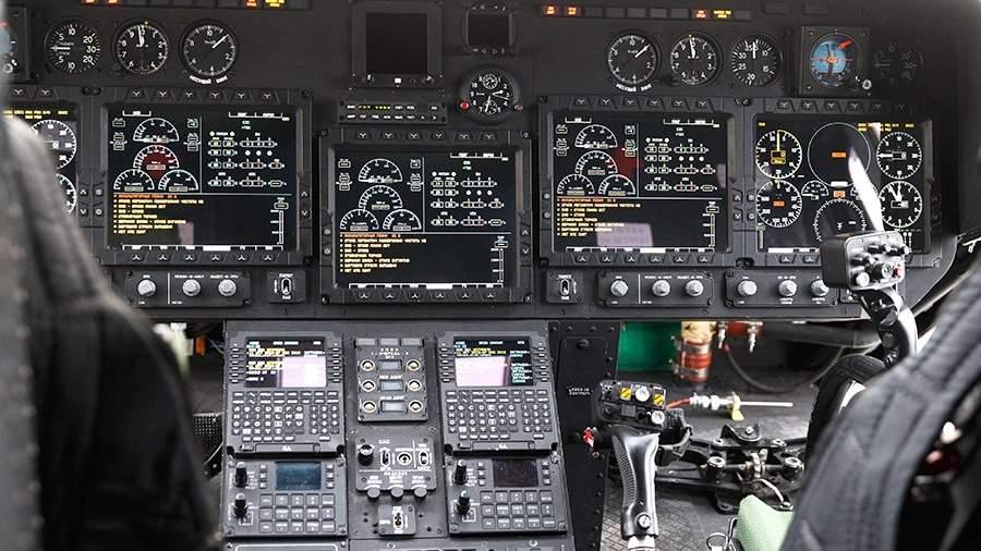 Приборная панель стратегического бомбардировщика Ту-160М2 на территории Казанского авиационного завода - филиала предприятие ПАО «Туполев»