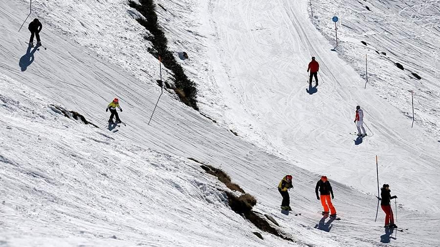 Отдыхающие на горнолыжном курорте «Роза Хутор»