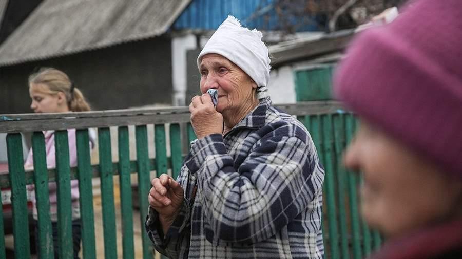 Жители украинской деревни