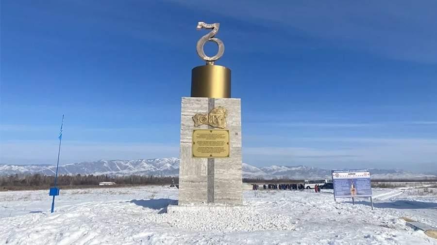 Памятник тувинской письменности в Музее заповеднике Белдир-Кежии, который выиграл во всероссийском конкурсе на самый необычный памятник, проводившимся сервисом «Туту.ру»