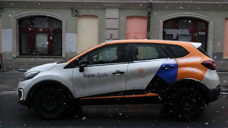 автомобиль каршеринга на улице Москвы