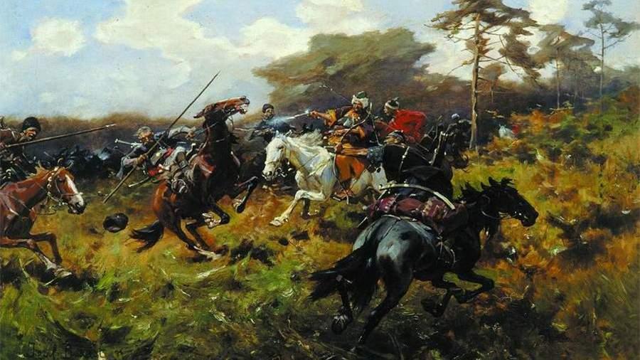 Схватка казаков с татарами