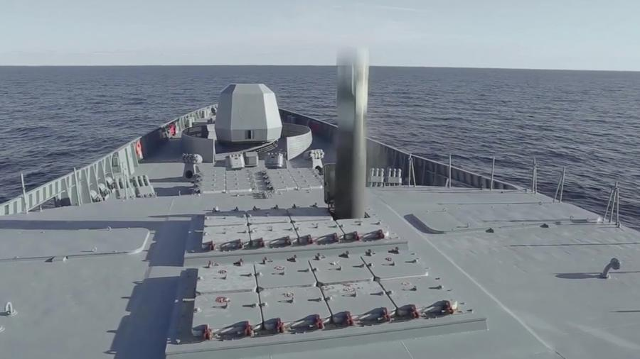 The first launch of the Zircon hypersonic missile from the frigate Admiral Gorshkov