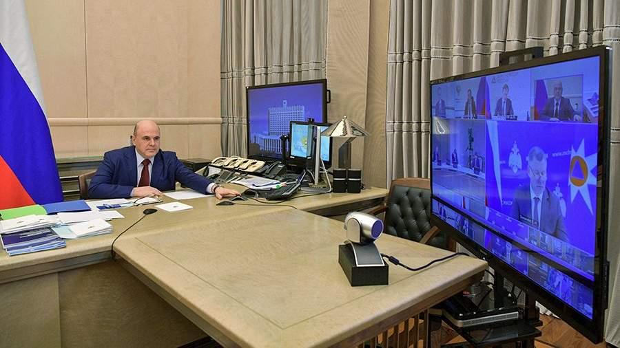 Михаил Мишустин во время заседания правительства РФ