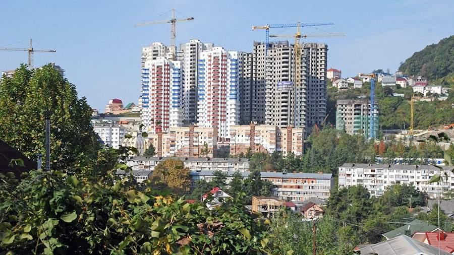 Строительство жилых домов в микрорайоне Мамайка в Сочи