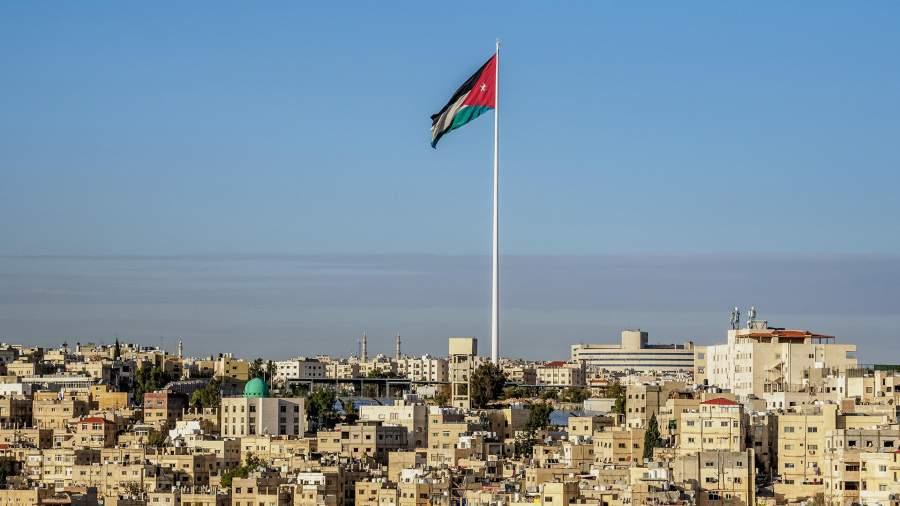 Вид на город Амман в Иордании