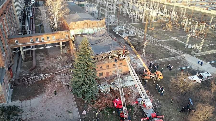 Обрушение кровли и части стены на территории ТЭЦ в Тамбове
