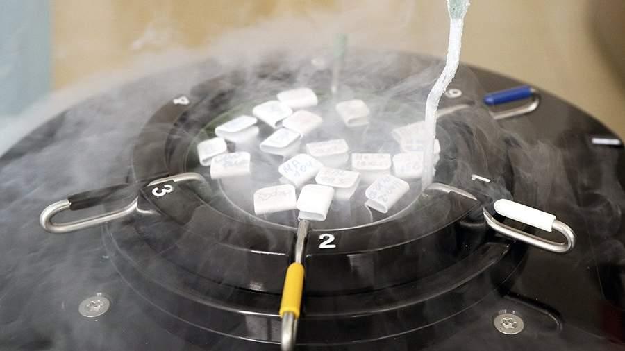 Замороженные в азоте культуры клеток в лаборатории государственного научного центра «Институт иммунологии» ФМБА России