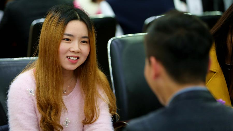 Chinese young people communicate