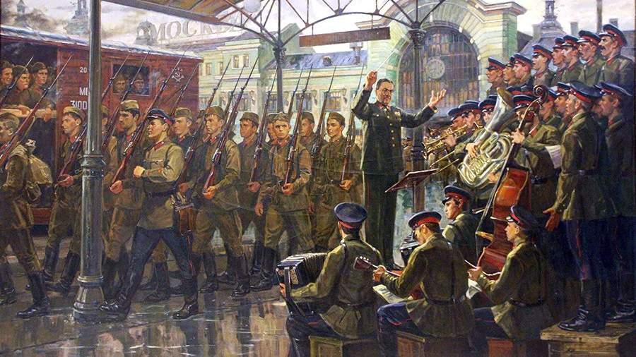 Ансамбль Александрова на Белорусском вокзале, 26 июня 1941 года