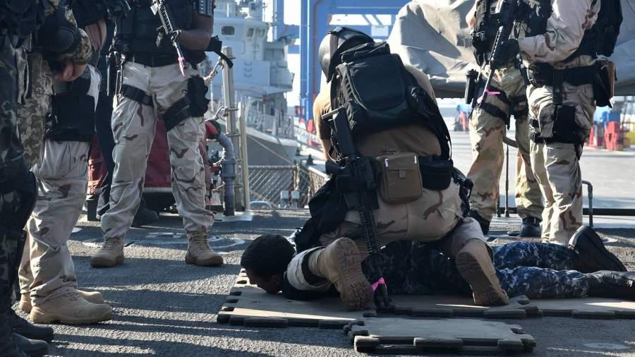 Военнослужащие США на военных украинско-американских военных учениях Sea Breeze