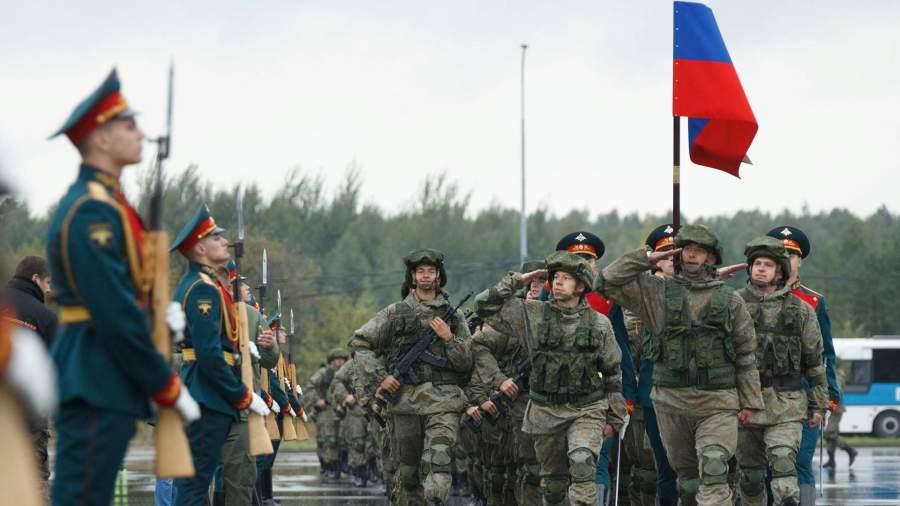 Военнослужащие армии РФ на открытиистратегических учений «Запад-2021»на полигоне Обуз-Лесновский в Белоруссии