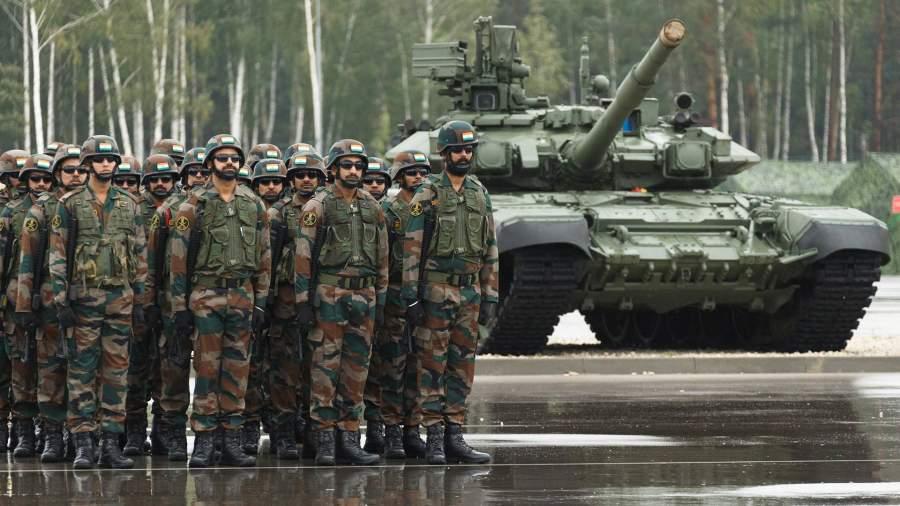 Военнослужащие армии Индии на открытии стратегических учений «Запад-2021»на полигоне Обуз-Лесновский в Белоруссии