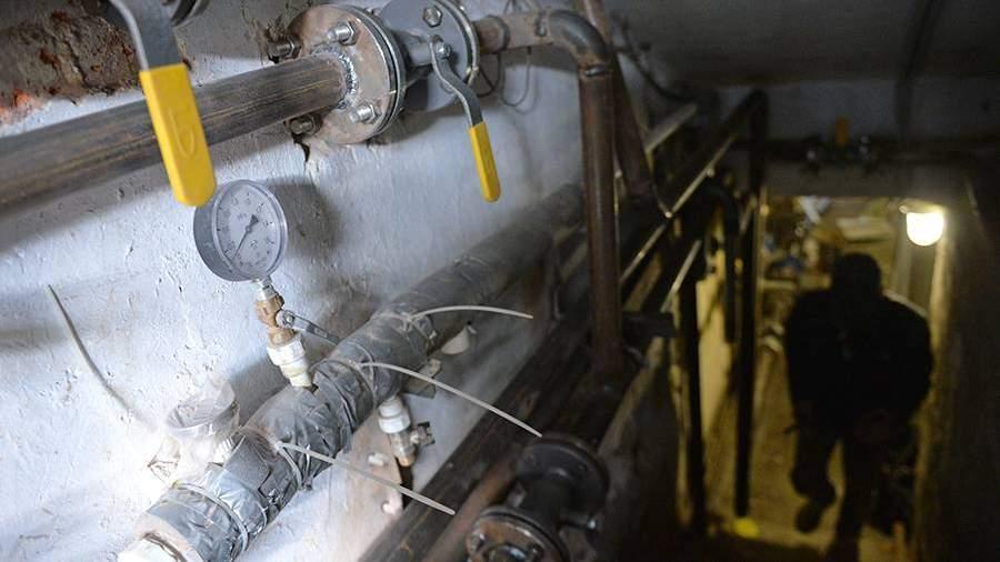 Тепловой узел в подвале жилого дома