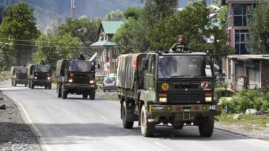 Подразделения индийской армии на марше в провинции Ладакх